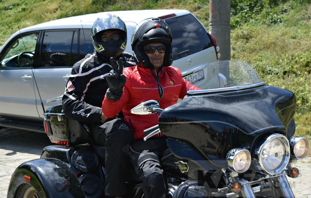 Фото - Феодосию посетили байкеры из Индии (видео)