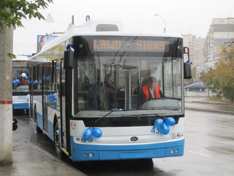 Движение троллейбусов в