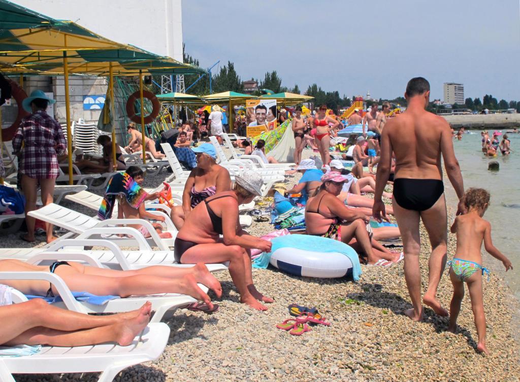 Центральные пляжи Евпатории 2017 Крым