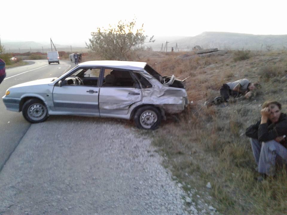 Нетрезвый шофёр врезался вавтомобиль скорой помощи вКрыму