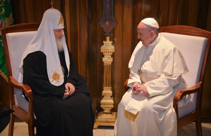 Встреча Патриарха иПапы Римского вГаванне завершилась подписанием декларации