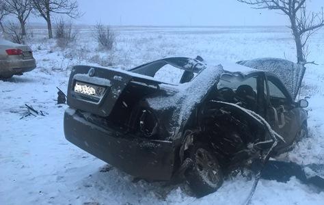 Сегодня вКировском районе Крыма случилось ДТП сучастием 2-х легковушек