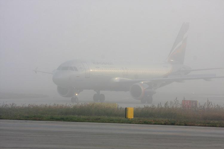 Ваэропорту Симферополя из-за тумана задержали неменее 10 рейсов