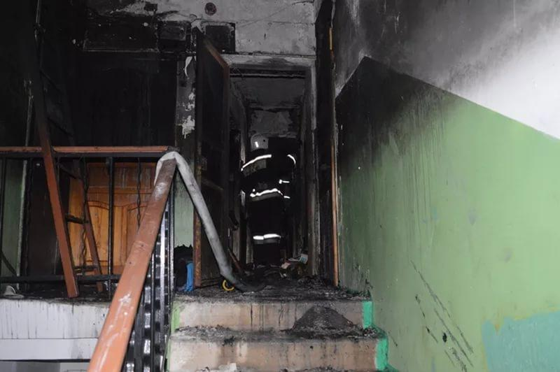 ВФеодосии cотрудники экстренных служб вынесли изгорящей квартиры кота вшоке