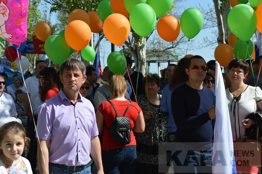 Фото новости - В Феодосии состоялась первомайская демонстрация (видео)(фоторепортаж)