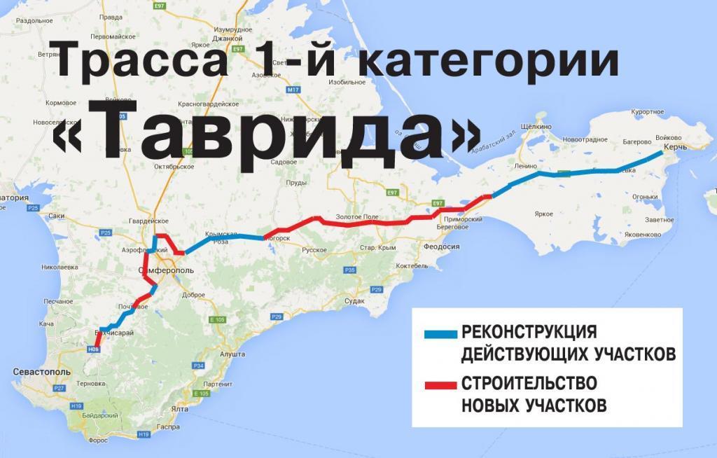 ВКрыму стартовало строительство автоподхода кКерченскому мосту