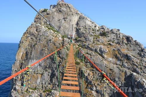 ВКрыму появился третий подвесной мост
