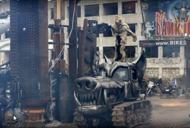 «Ночные волки» устроили вСевастополе «патриотическое» трэш-шоу для детей