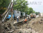 В Феодосии аварийная бригада водоканала оперативно ликвидировала порыв канализационной трубы