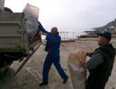 В Крыму сегодня, 16 апреля, проходит субботник в Лисьей бухте:фоторепортаж