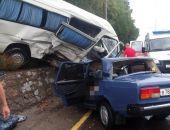 В Крыму сегодня на трассе Алушта – Ялта в жутком ДТП погиб водитель (фото)