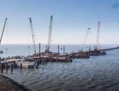 Крымский мост: погружено 50% свай, готовы более 210 из 595 опор