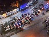 В Евпатории прошел флешмоб «Авто-елка»