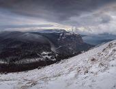 В Крымских горах на снегу обнаружили следы «снежного человека» (фото)