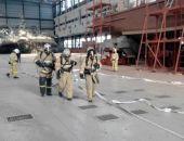 Крымские спасатели ликвидировали  «пожар» на феодосийском судостроительном заводе «Море»
