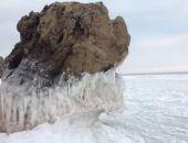 У побережья Крыма Азовское море почти полностью покрылось льдом (видео)