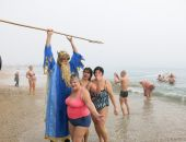 В Феодосии прошел совместный заплыв моржей Крыма (видео)
