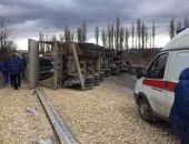По Белогорском перевернулся грузовик со щебнем