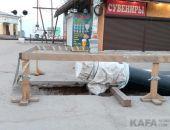 До лета завершат работы по прокладке коллектора в Феодосии:фоторепортаж