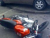 На трассе Симферополь-Феодосия вчера  автомобиль Hyundai сбил мотоцикл