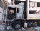 В столице Крыма сгорел грузовой автомобиль, водитель госпитализирован (фото)