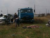 В Крыму сегодня в ДТП с участием  КамАЗа и внедорожника водитель последнего погиб (фото)