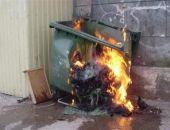 В Феодосии горят мусорные баки