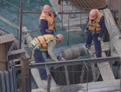 Началось бетонирование фарватерной опоры Крымского моста (фото)