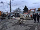 В столице Крыма снесли торговые объекты по ул.Козлова перед Центральным рынком (фото)