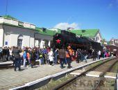 Феодосийцы встретили «Поезд Победы» (видео)