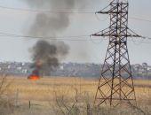 В Феодосии два пожара: горит трава за Керченским шоссе и тушили баню Якорь (видео)