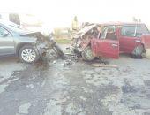 В Сакском районе Крыма «лоб-в-лоб» столкнулись два легковых авто (фото)