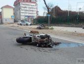Под Феодосией мотоциклист сбил собаку и перевернулся