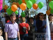 В Феодосии состоялась первомайская демонстрация (видео)