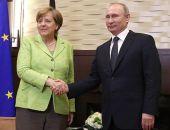 Владимир Путин встретился с Ангелой Меркель, они поговорили о политике