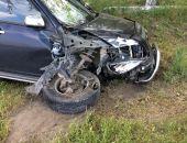 В Феодосии на Керченском шоссе машина «Чери Тигго» врезалась в «Ниву»
