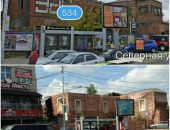 В Краснодаре к приезду Путина недострои затянули баннерами с картинками домов