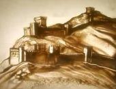 Крымчанка Ксения Симонова нарисовала песком промо-ролик «Люблю Крым» (видео)