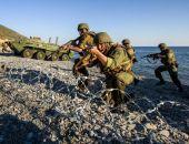 На Опуке тренируются морпехи Каспийской флотилии