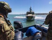 На стройке Крымского моста спецслужбы обезвредили «террористов» (фото) (видео)