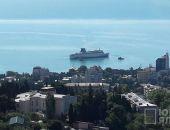 Круизный лайнер «Князь Владимир» зашел в порт Ялты (фото)