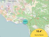 Температура морской воды у побережья Крыма местами опустилась до +10 градусов