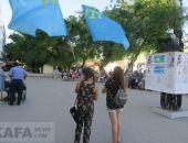 В Феодосии отметили День крымскотатарского флага и Ураза-Байрам