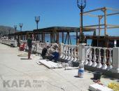 В Коктебеле продолжают ремонт набережной