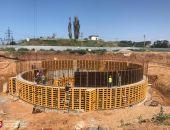 В Крыму строительство новых очистных сооружений в г.Саки опережает график почти на месяц (фото)