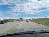 В Крыму близ Коктебеля сегодня произошло ДТП – столкнулись два легковых авто (фото)