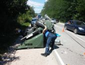 В Крыму сегодня на трассе Симферополь – Феодосия столкнулись три автомобиля (фото)
