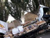 Сегодня в Саках разбился хлебный фургон