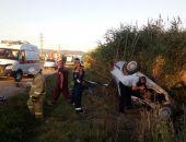 В Феодосии на Керченском шоссе столкнулись рейсовый автобус и автомобиль (обновлено)