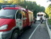 В Крыму на трассе Алушта – Симферополь загорелся троллейбус